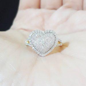9040028 แหวนหัวใจเพชร