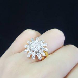 9100027 แหวนเพชรดาวกระจายเล่นไฟสวยวิ้ง ๆ สวยแซ่บสุดๆ