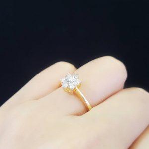 9100041 แหวนเพชรดอกพิกุล