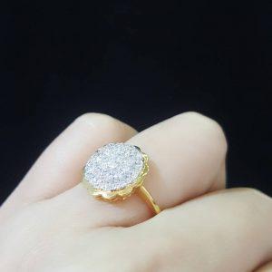 9110028 แหวนเพชรทรงพุ่มสวย ขนาดกำลังใส่ติดนิ้วสวยๆค่ะ