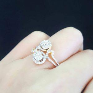 9120020 แหวนเพชรกระจุกดีไซน์สวย