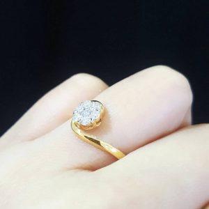 913001 แหวนเพชรมัด