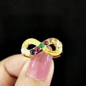 10010034 แหวนนพเก้าอินฟินิตี้งานสวยน่ารัก